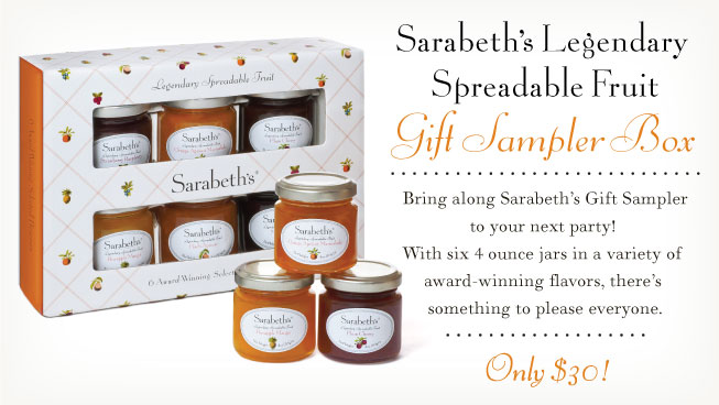 Sarabeth's Legendary Spreadable Fruit Gift Sampler Box