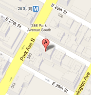 381 Park Avenue South map